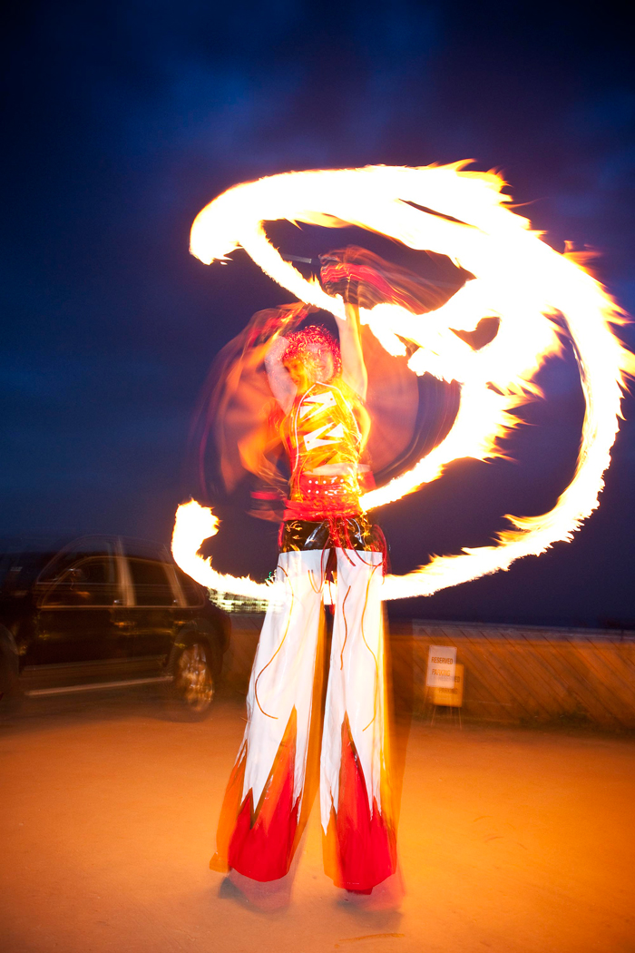 fire-twirling-stilts